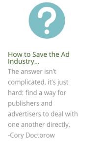 How to save the ad industry