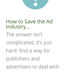 How to save online advertising