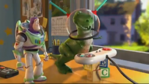 Buzz and Rex from Toy Story